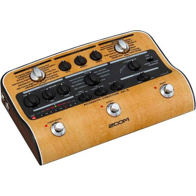 ZOOM AC-3 ACOUSTIC CREATOR PEDAL FOR ELECTROACOUSTIC GUITAR AND DOUBLE BASS