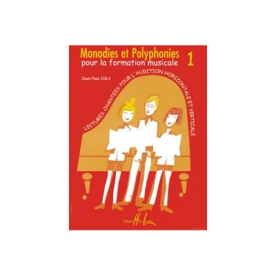 LEMOINE JOLY JEAN-PAUL - MONODIES ET POLYPHONIES VOL.1