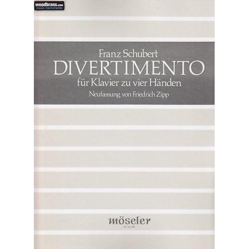 MOSELER SCHUBERT F. - DIVERTIMENTO - PIANO 4 MAINS