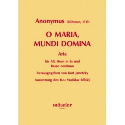 MOSELER O MARIA, MUNDI DOMINA - ALTO, HORN AND BASSO CONTINUO