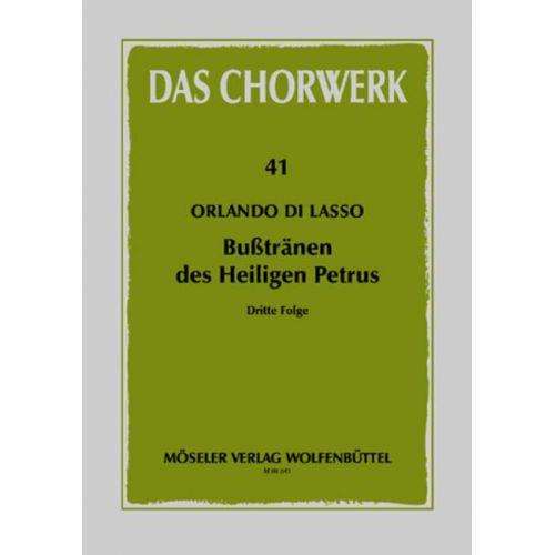 MOSELER LASSO ORLANDO DI - BUSSTRAENEN DES HEILIGEN PETRUS BAND 3 - MIXED CHOIR (SSAATTB)