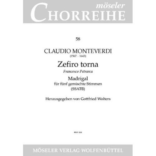 MOSELER MONTEVERDI C. - ZEFIRO TORNA - MIXED CHOIR (SSATB)