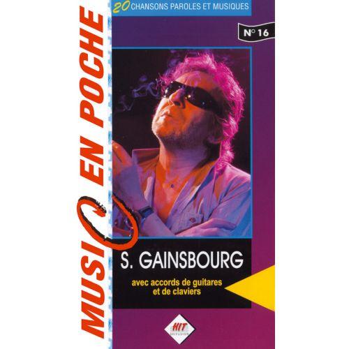 HIT DIFFUSION GAINSBOURG SERGE - MUSIC EN POCHE - PAROLES ET ACCORDS