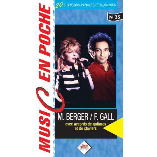 HIT DIFFUSION GALL F. , BERGER M. - MUSIC EN POCHE - PAROLES ET ACCORDS