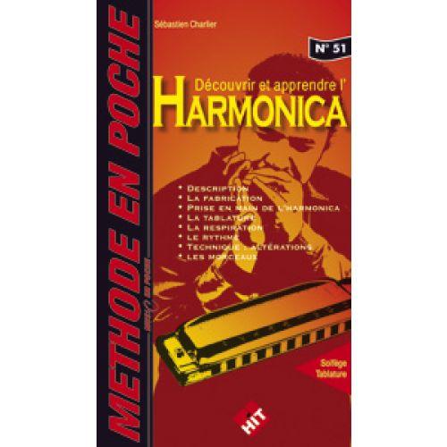 HIT DIFFUSION CHARLIER S. - DECOUVRIR ET APPRENDRE L'HARMONICA MUSIC EN POCHE - HARMONICA