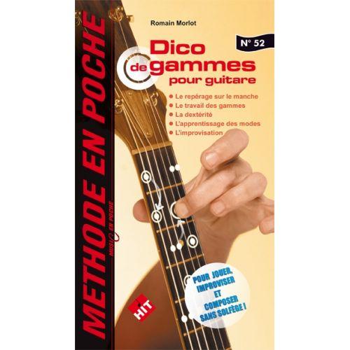 HIT DIFFUSION MORLOT R. - MUSIC EN POCHE N°52 - DICO DE GAMMES POUR GUITARE