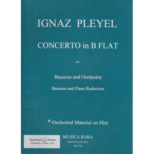 MUSICA RARA PLEYEL I. - CONCERTO IN B BEN 1096