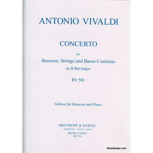 MUSICA RARA VIVALDI ANTONIO - CONCERTO IN B RV 501 - BASSOON, PIANO