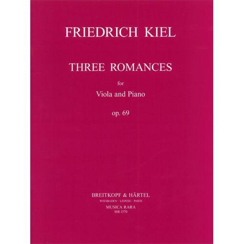 MUSICA RARA KIEL FRIEDRICH - DREI ROMANZEN OP. 69 - VIOLA, PIANO