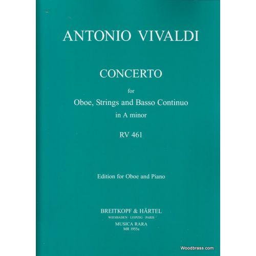 MUSICA RARA VIVALDI ANTONIO - CONCERTO IN A RV 461 - OBOE, ORCHESTRA