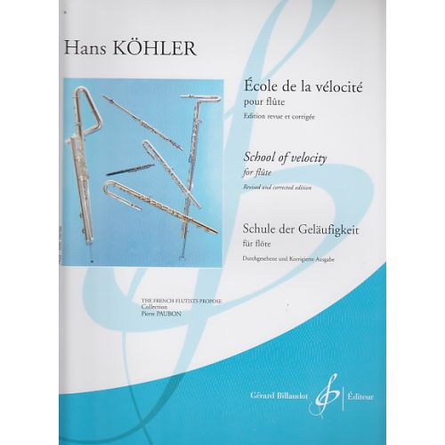 BILLAUDOT KOHLER HANS - ECOLE DE LA VELOCITE - FLUTE