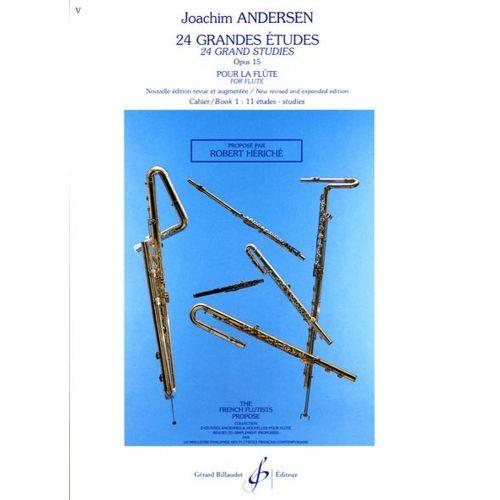 BILLAUDOT ANDERSEN JOACHIM - 24 GRANDES ETUDES OP.15 VOL.1