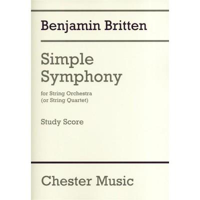 CHESTER MUSIC BRITTEN B. - SIMPLE SYMPHONY FOR STRING ORCHESTRA - CONDUCTEUR DE POCHE