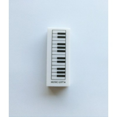MUSIC GIFT GOMME MOTIF PIANO