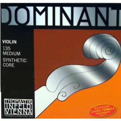 THOMASTIK STRINGS VIOLIN DOMINANT SOLID CORE NYLON MEDIUM 129
