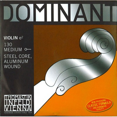 THOMASTIK STRINGS VIOLIN DOMINANT SOLID CORE NYLON E ALU. 130