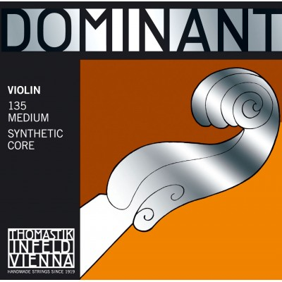 THOMASTIK 4/4 DOMINANT VIOLIN SET MEDIUM TENSION 135