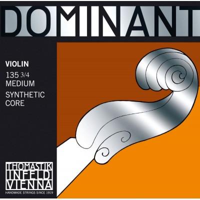 THOMASTIK 3/4 DOMINANT VIOLIN SET MEDIUM TENSION