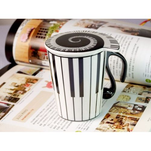 MUSIC SALES MUG PIANO MOTIV WITH LID