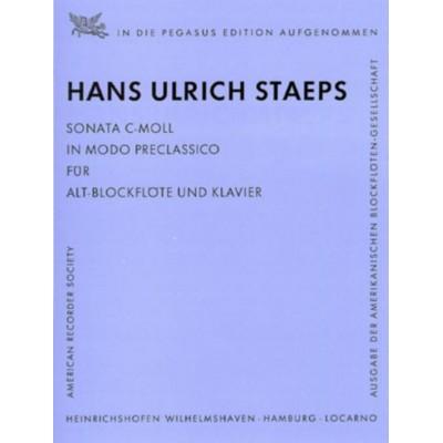 HEINRICHSHOFEN STAEPS H.U. - SONATA C-MOLL - FLÛTE A BEC ALTO ET PIANO