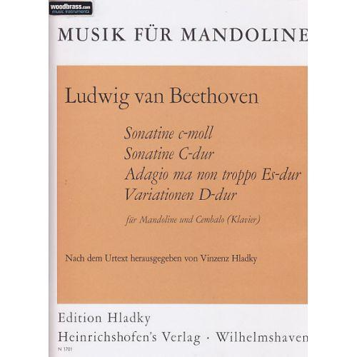 HEINRICHSHOFEN BEETHOVEN L. (VAN) - SONATINE C-MOLL, SONATINE C-DUR... - MANDOLINE ET PIANO (CLAVECIN)