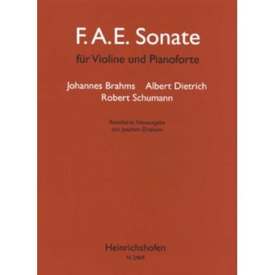 HEINRICHSHOFEN BRAHMS J. / DIETRICH A. / SCHUMANN R. - F.A.E. SONATE - VIOLON & PIANO