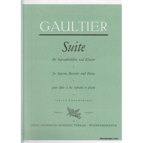 HEINRICHSHOFEN GAULTIER P. - SUITE - FLUTE A BEC SOPRANO ET PIANO