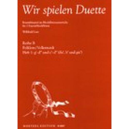 HEINRICHSHOFEN LUTZ W. - WIR SPIELEN DUETTE VOL.1 - ENSEMBLESPIEL IM BLOCKFLöTENUNTERRICHT
