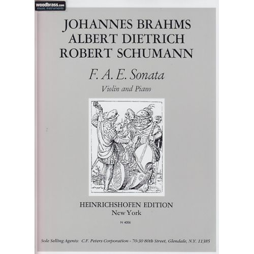 HEINRICHSHOFEN BRAHMS / DIETRICH / SCHUMANN - F.A.E. SONATA - VIOLON & PIANO