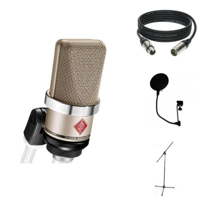 NEUMANN PACK TLM 102 SILVER + MIC STAND + ANTI-POP