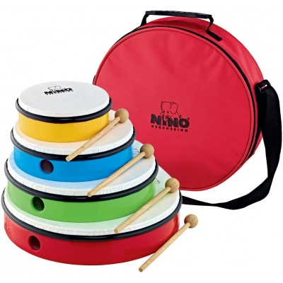 NINO HAND DRUM SET - 4 PCS. - INCL. BAG