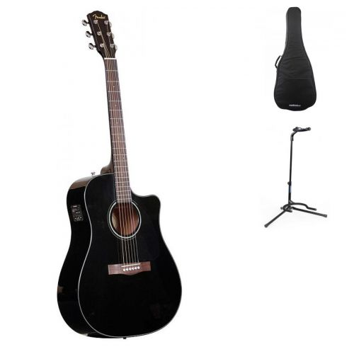 FENDER CD-60 CE BLACK V2 + ACCESSORIES