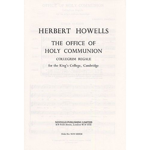 NOVELLO THE OFFICE OF HOLY COMMUNION - CHORAL