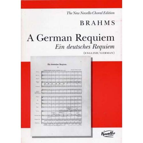 NOVELLO BRAHMS J. - GERMAN REQUIEM (ENGL./GERM.) - VOCAL SCORE