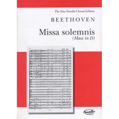 NOVELLO BEETHOVEN L. VAN - MISSA SOLEMNIS (MASS IN D) - VOCAL SCORE