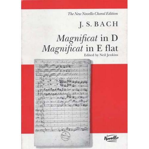 NOVELLO BACH J.S. - MAGNIFICAT IN D & E FLAT - VOCAL SCORE