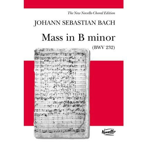 NOVELLO J.S. BACH MASS IN B MINOR BWV 232 - NOVELLO EDITION ALTO - CHORAL