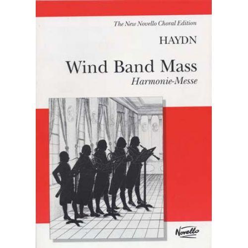 NOVELLO HAYDN J. - WIND BAND MASS HARMONIE-MESSE - VOCAL SCORE