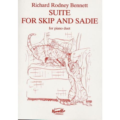 NOVELLO RICHARD RODNEY BENNETT SUITE FOR SKIP AND SADIE FOR PIANO DUET - PIANO DUET