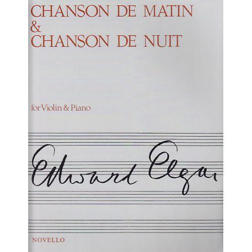 NOVELLO ELGAR EDWARD - CHANSON DE MATIN & CHANSON DE NUIT