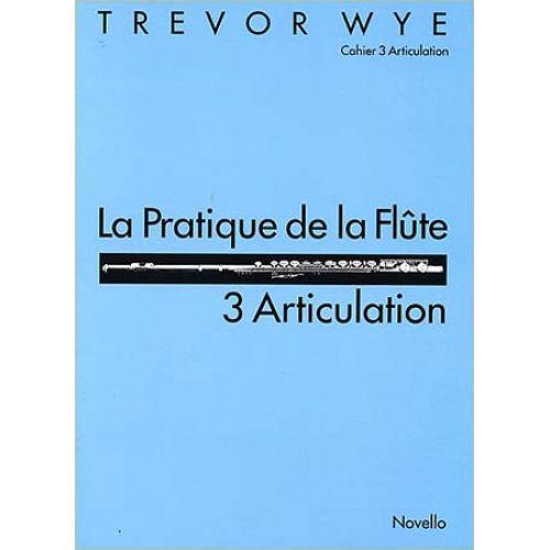 NOVELLO WYE TREVOR - PRATIQUE DE LA FLUTE VOL.3 : ARTICULATION