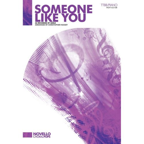 NOVELLO ADELE - ADELE - SOMEONE LIKE YOU - TTBB/PIANO