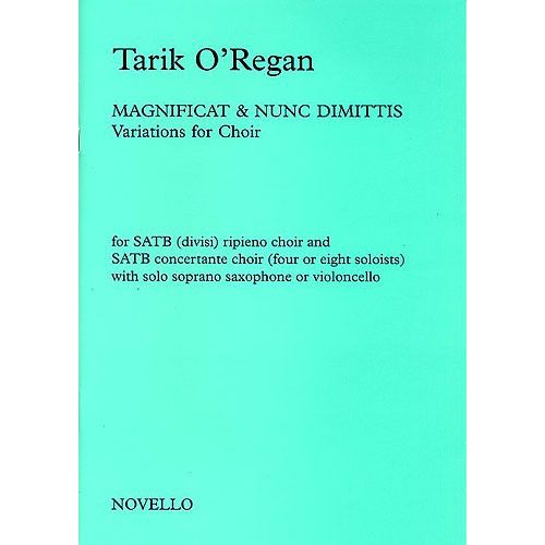 NOVELLO MAGNIFICAT AND NUNC DIMITTIS - VARIATIONS FOR CHOIR - SOPRANO SAX
