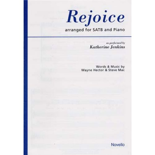 NOVELLO JENKINS KATHERINE - REJOICE - ARR. SATB AND PIANO