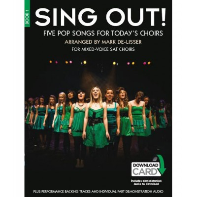 NOVELLO SING OUT! 5 POP SONGS FOR TODAY'S CHOIRS + 2 CD BOOK 1 - CHANT, PIANO