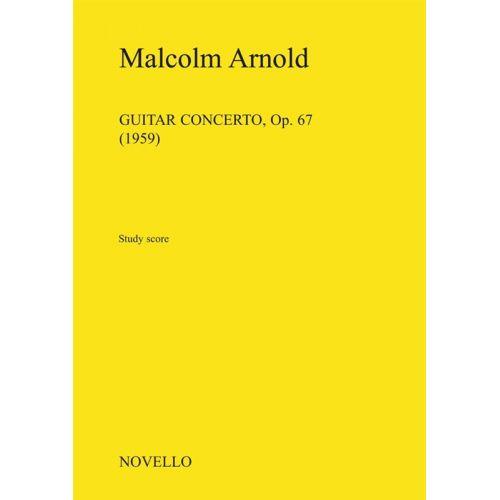 NOVELLO MALCOLM ARNOLD - GUITAR CONCERTO OPUS 67 - STUDY SCORE - FLUTE