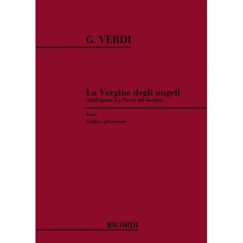 RICORDI VERDI G. - LA FORZA DEL DESTINO: LA VERGINE DEGLI ANGELI - CHANT ET PIANO