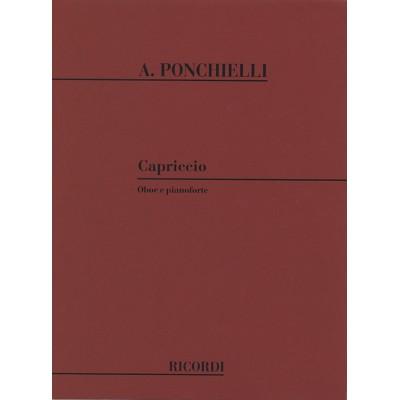 RICORDI PONCHIELLI A. - CAPRICCIO - HAUTBOIS ET PIANO