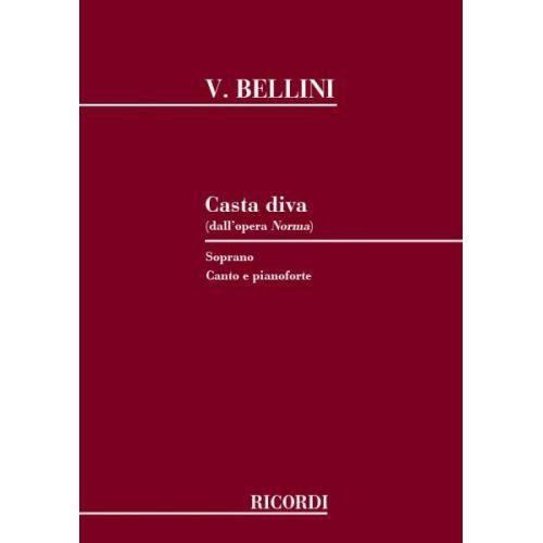RICORDI BELLINI V. - CASTA DIVA - CHANT ET PIANO