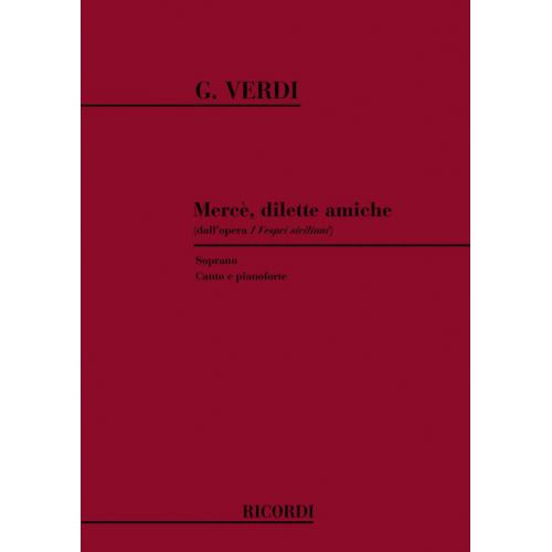RICORDI VERDI G. - MERCE' DILETTE AMICHE - CHANT ET PIANO